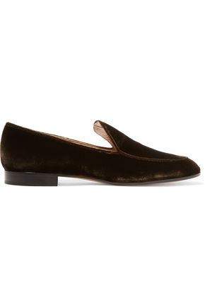 GIANVITO ROSSI Velvet loafers