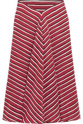 ALTUZARRA Striped silk crepe de chine skirt