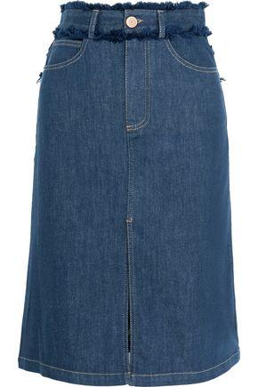 SEE BY CHLOÉ Fringe-trimmed denim skirt
