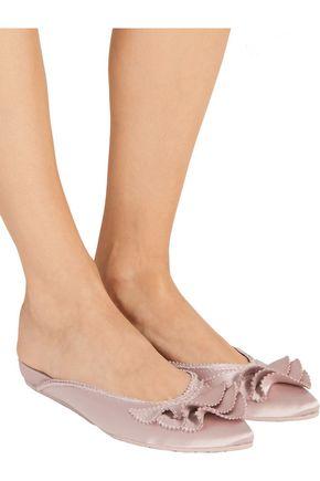 PEDRO GARCÍA Alia layered silk-satin slippers