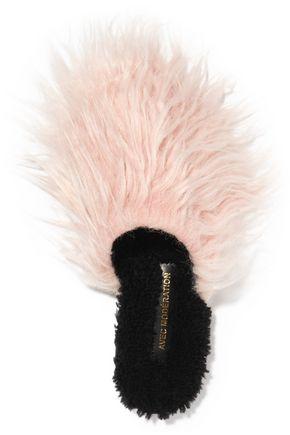 AVEC MODÉRATION Aspen Mongolia faux fur and shearling slippers
