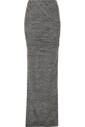 ALICE + OLIVIA Octavia ruched stretch-wool maxi skirt