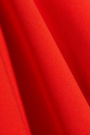 SOLACE LONDON Kaya belted asymmetric satin maxi skirt