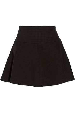 ALICE + OLIVIA Textured-knit mini skirt
