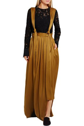 LANVIN Washed-satin maxi skirt