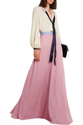 ROKSANDA Leighton silk-blend muslin maxi skirt