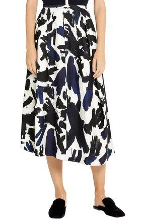 JIL SANDER Printed twill midi skirt