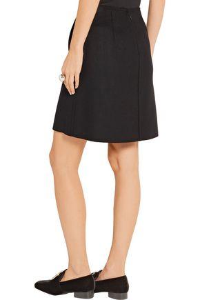 TOMAS MAIER Wool-blend felt mini skirt