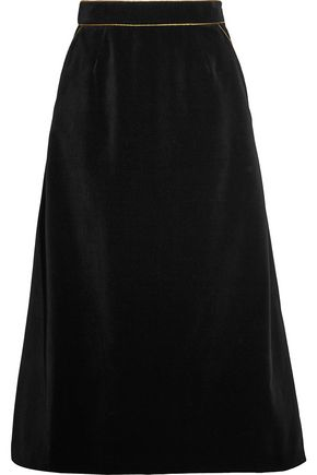 SAINT LAURENT Velvet skirt