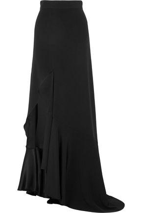 JUAN CARLOS OBANDO Mariposa asymmetric silk-crepe maxi skirt