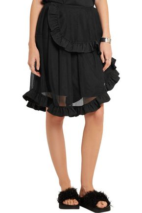 SIMONE ROCHA Ruffle-trimmed tiered tulle skirt