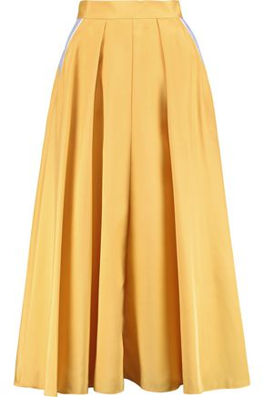 ROKSANDA Lilian pleated silk-blend skirt