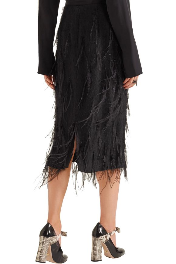 Feather-embellished voile skirt   JASON WU   Sale up to 70% off   THE OUTNET