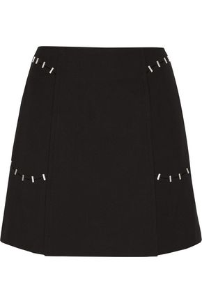 3.1 PHILLIP LIM Embellished wool-blend twill mini skirt