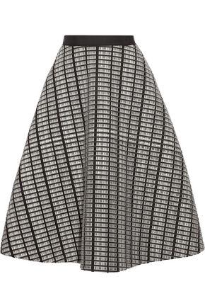 LELA ROSE Jacquard midi skirt