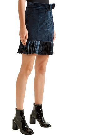 3.1 PHILLIP LIM Velvet and metallic chiffon mini skirt