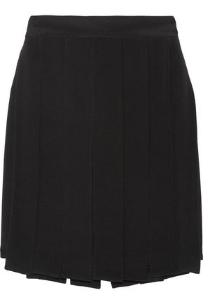 CUSHNIE ET OCHS Layered silk-crepe mini skirt