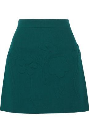 VICTORIA, VICTORIA BECKHAM Wool-crepe mini skirt