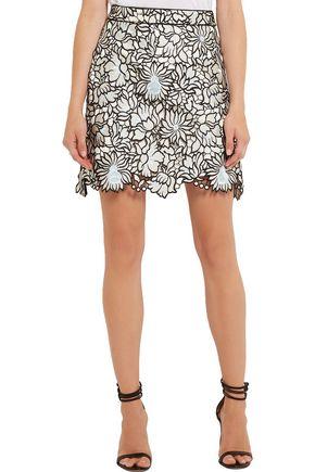 SELF-PORTRAIT Poppy guipure lace mini skirt
