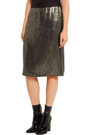 TIBI Sequined silk-chiffon skirt
