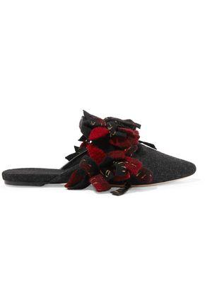 SANAYI 313 Addobbi embellished wool slippers