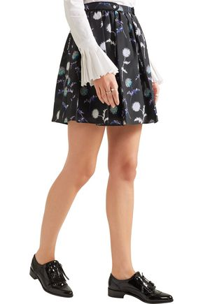 KENZO Printed silk mini skirt