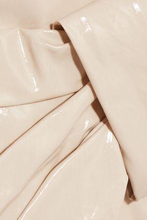 ISABEL MARANT Wrap-effect coated cotton-blend mini skirt
