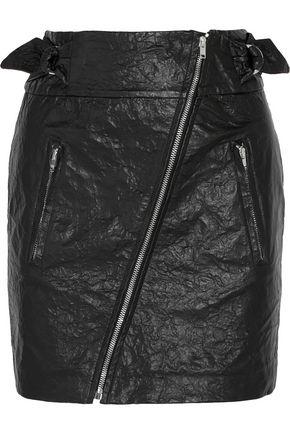 ISABEL MARANT Faux washed-leather mini skirt