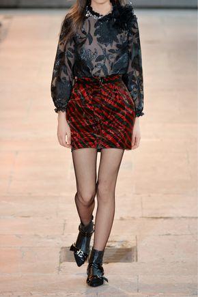 ISABEL MARANT Yelena printed organza mini skirt