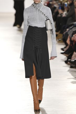 PROENZA SCHOULER Lace-up crepe skirt