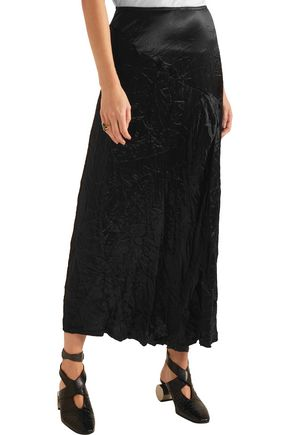 JOSEPH Louie crinkled-satin midi skirt