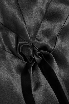 KÉJI Channel silk-satin skirt