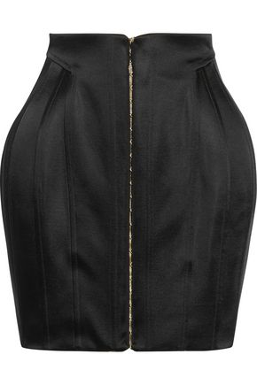 BALMAIN Satin mini skirt