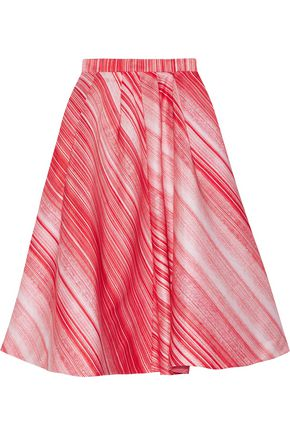VIKA GAZINSKAYA Striped satin midi skirt