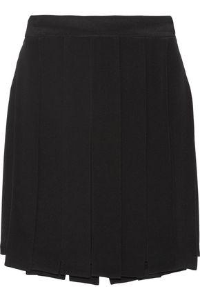 CUSHNIE Layered silk-crepe mini skirt