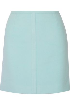 PALLAS Wool and cashmere-blend mini skirt