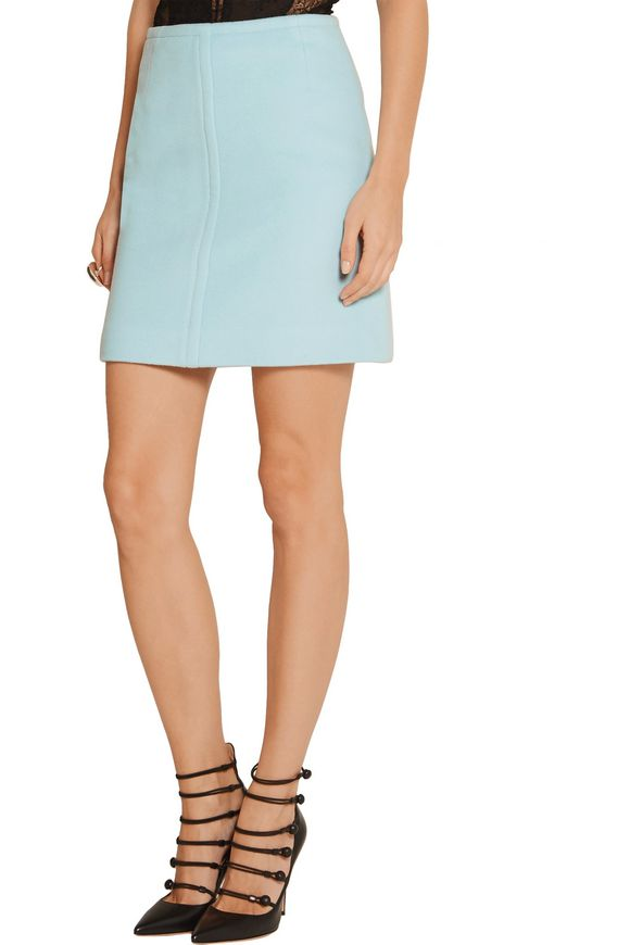 Wool and cashmere-blend mini skirt | PALLAS | Sale up to 70% off | THE  OUTNET