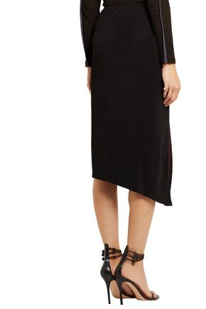 ATLEIN Draped stitched jersey skirt
