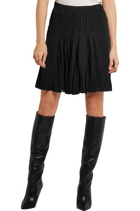 ATLEIN Pleated stitched jersey skirt