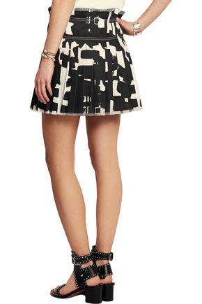 ISABEL MARANT Kib printed denim mini skirt