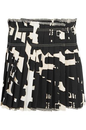 ISABEL MARANT Kib printed denim mini skirt