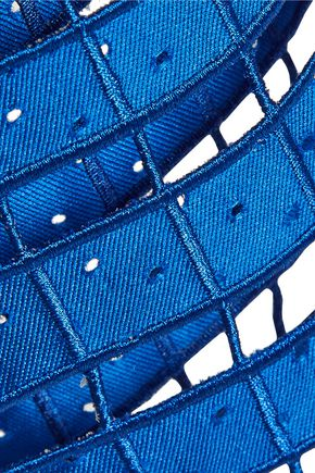 SACHIN & BABI Toni laser-cut satin-twill skirt
