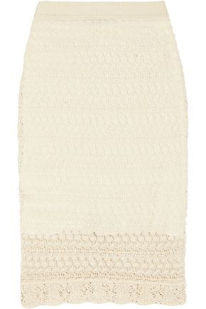 ISABEL MARANT Dwight crocheted cotton mini skirt