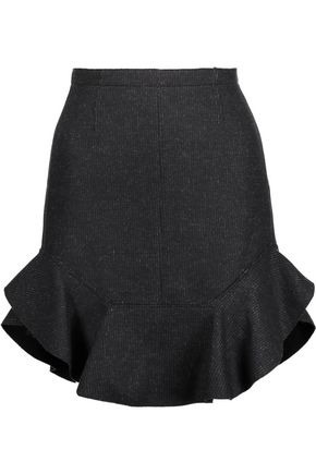 ISABEL MARANT Striped wool-blend mini skirt