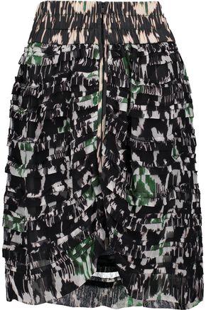 ISABEL MARANT Piero tiered printed silk-georgette mini skirt