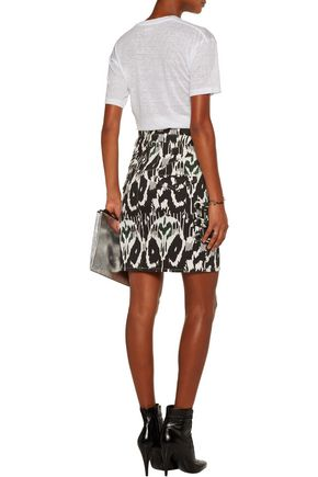 ISABEL MARANT Nossy printed stretch-denim mini skirt