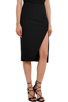 ELIZABETH AND JAMES Clementina split crepe skirt