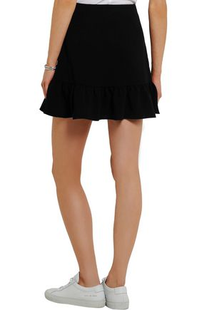 ELIZABETH AND JAMES Piper ruffled crepe mini skirt