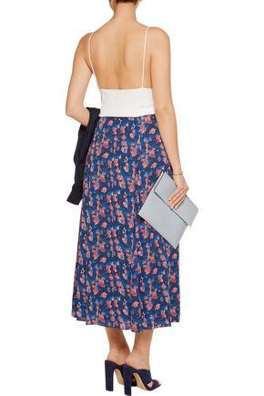 TANYA TAYLOR Wixson printed silk-chiffon midi skirt