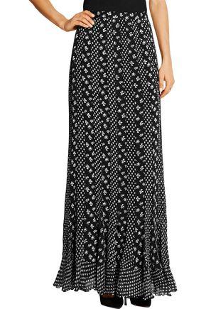 DIANE VON FURSTENBERG Addyson printed paneled silk-chiffon maxi skirt